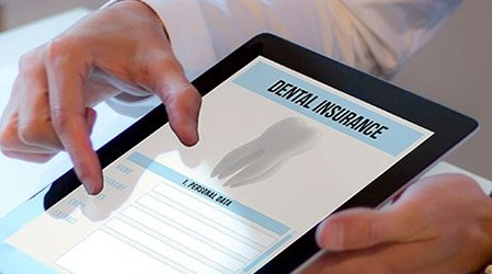 dental insurance forms on a tablet
