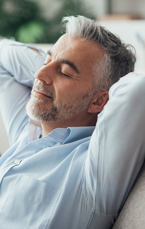 Patient relaxing after sedation dentistry visit