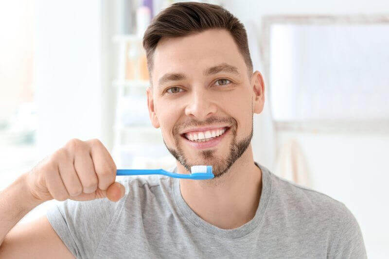 Man protecting his oral health in Frisco.